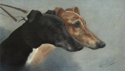 Art Prints of In the Slips for the Waterloo Cup by Lilian Cheviot