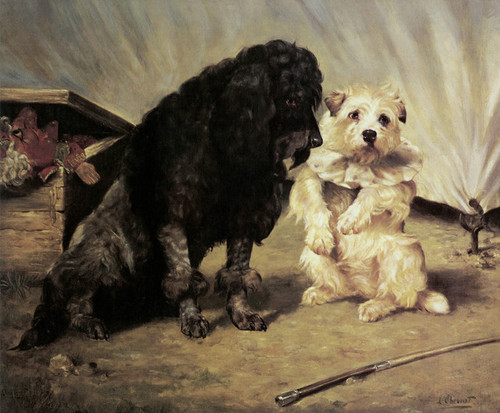 Art Prints of Circus Dogs by Lilian Cheviot