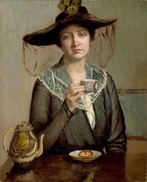 Art Prints of A Cup of Tea by Lilla Cabot Perry