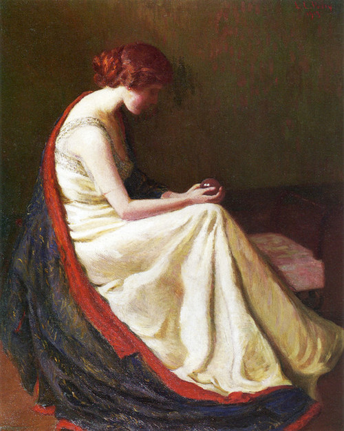 Art Prints of The Crystal Gazer by Lilla Cabot Perry