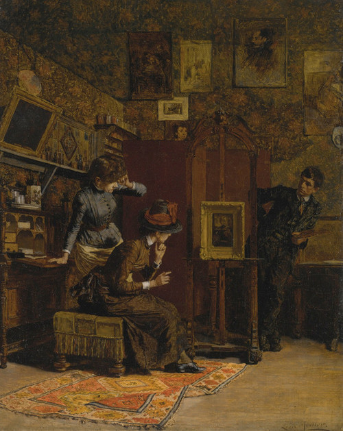 Art Prints of The Art Critic by Louis Charles Moeller