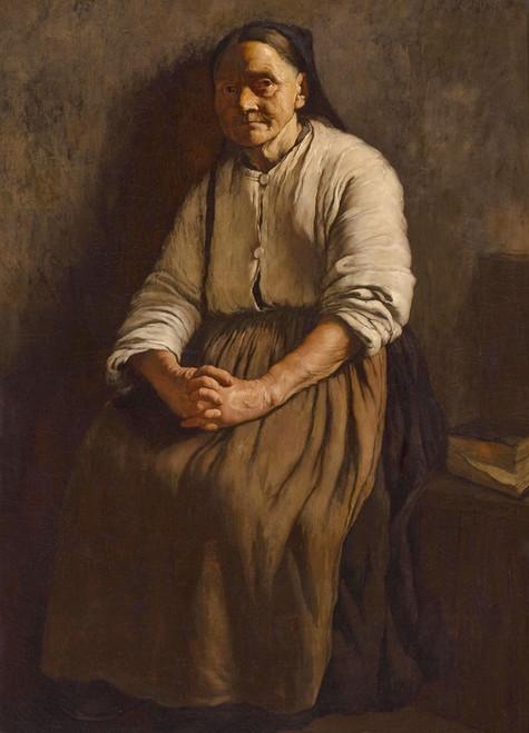 Art Prints of Old Woman by Louis Charles Moeller