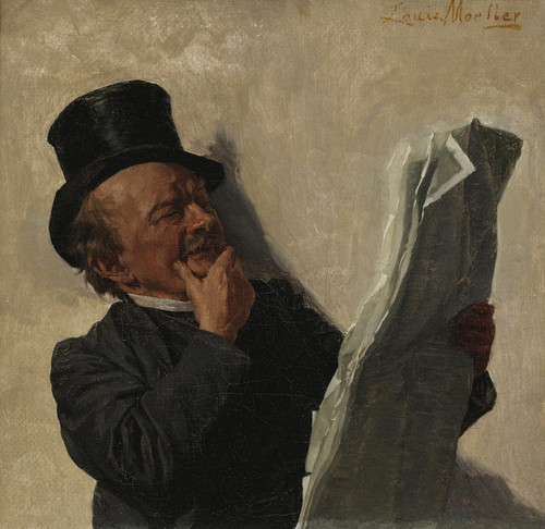 Art Prints of The Evening News by Louis Charles Moeller