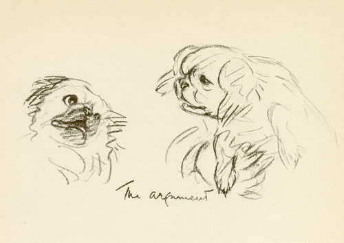 Art Prints of The Argument, Pekingese by Lucy Dawson