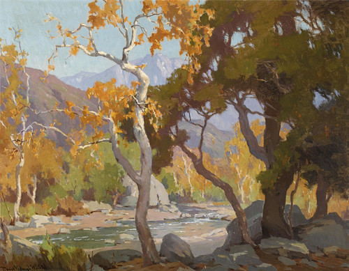 Art Prints of Autumn in the Arroyo by Marion Kavanaugh Wachtel