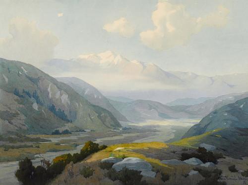 Art Prints of The Cajon Pass by Marion Kavanaugh Wachtel
