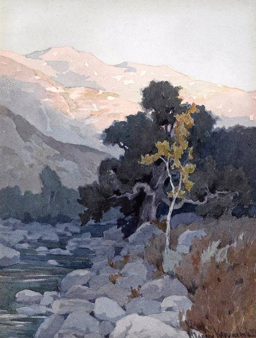 Art Prints of The Creek at Sunset by Marion Kavanaugh Wachtel