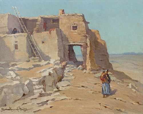 Art Prints of Walpi on the First Mesa by Marion Kavanaugh Wachtel