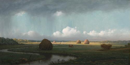 Art Prints of Sudden Shower, Newbury Marshes by Martin Johnson Heade