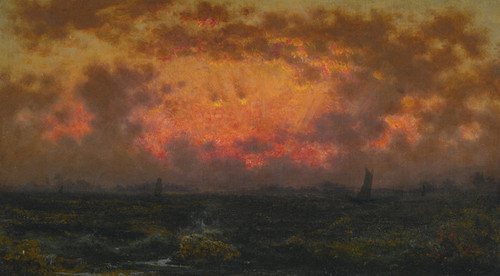 Art Prints of Sunset on the Coast, Florida Sunset, by Martin Johnson Heade
