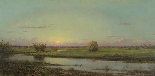 Art Prints of Sunset Over the Marsh II by Martin Johnson Heade