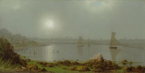 Art Prints of New York Harbor, Coast of Maine, 1877 by Martin Johnson Heade