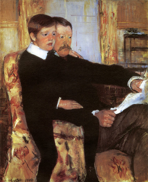 Art Prints of Alexander Cassatt and His Son Robert by Mary Cassatt