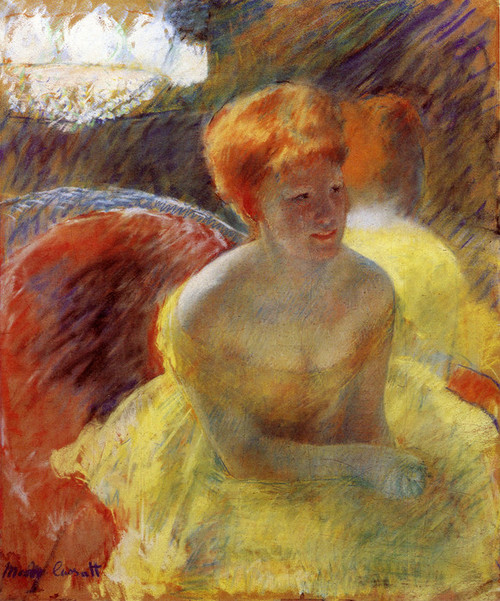 Art Prints of At the Theater, Woman in a Loge by Mary Cassatt