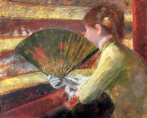 Art Prints of At the Theater by Mary Cassatt