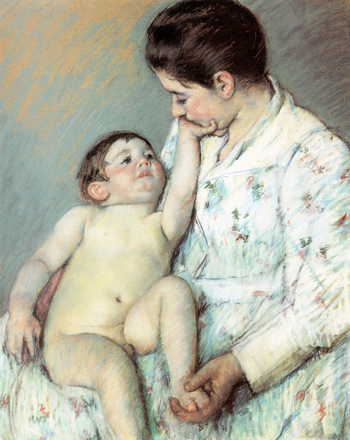 Art Prints of Baby's First Caress by Mary Cassatt