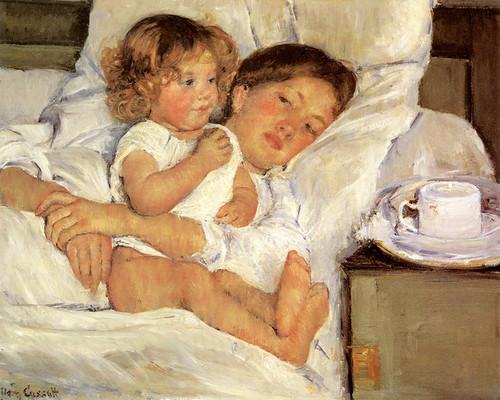 Art Prints of Breakfast in Bed by Mary Cassatt