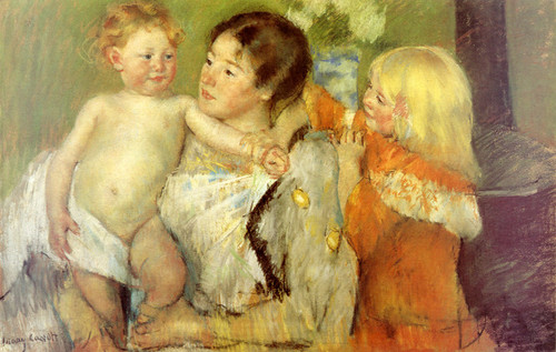 Art Prints of After the Bath by Mary Cassatt