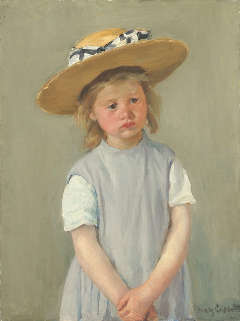 Art Prints of Child in a Straw Hat by Mary Cassatt