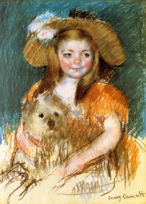 Art Prints of Child Holding a Dog by Mary Cassatt