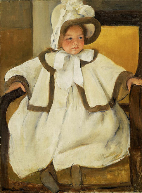 Art Prints of Ellen Mary in a White Coat by Mary Cassatt