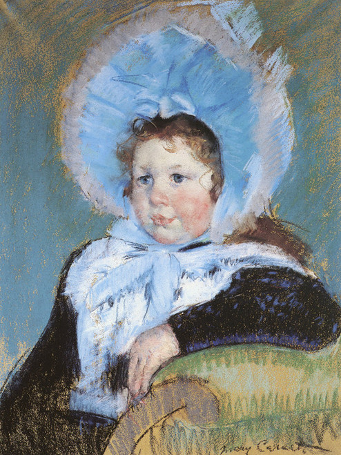 Art Prints of Dorothy in a Very Large Bonnet and a Dark Coat by Mary Cassatt