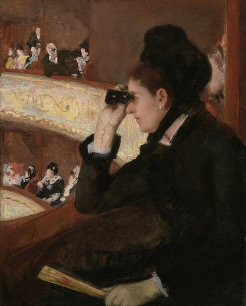 Art Prints of In the Loge by Mary Cassatt