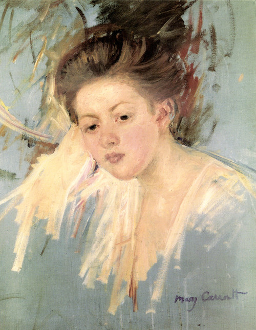 Art Prints of Head of a Girl by Mary Cassatt