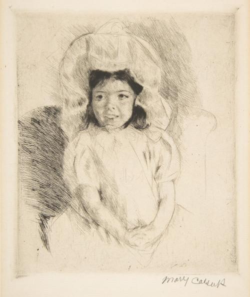 Art Prints of Margot Wearing a Bonnet by Mary Cassatt