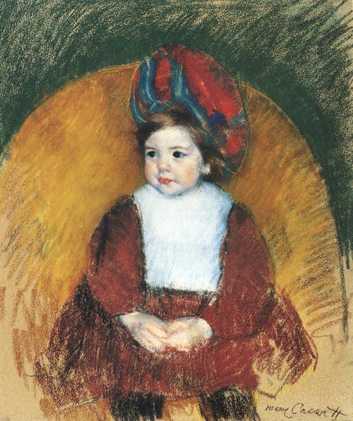 Art Prints of Margot in a Dark Red Costume by Mary Cassatt