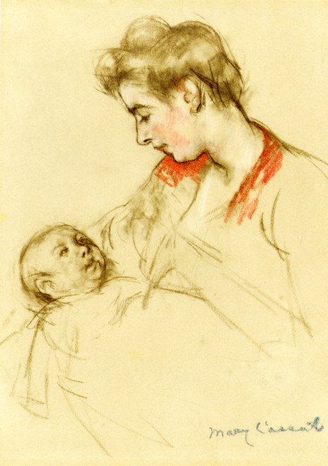 Art Prints of Mother and Child III by Mary Cassatt