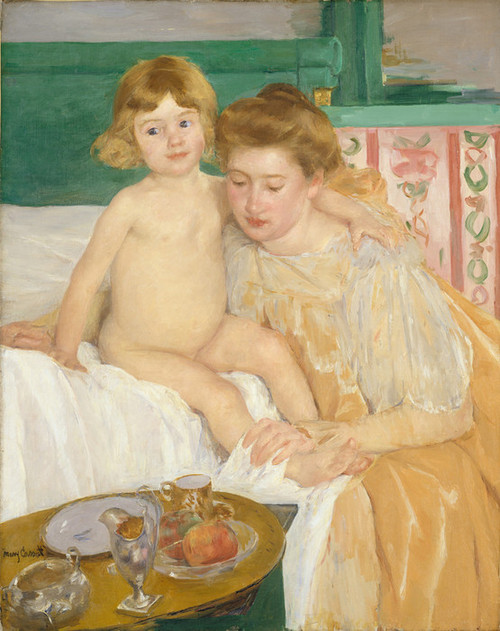 Art Prints of Mother and Child or Baby Getting Up from His Nap by Mary Cassatt