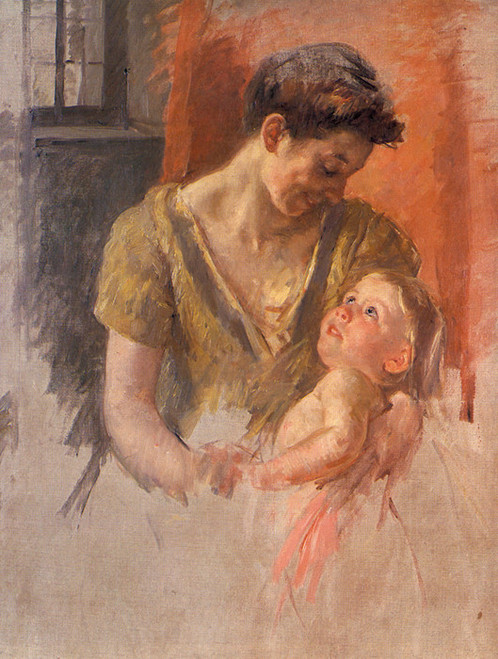 Art Prints of Mother and Child, Smiling at Each Other, 1908 by Mary Cassatt