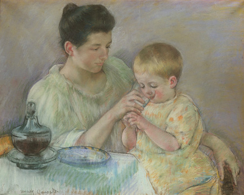 Art Prints of Mother Feeding Child by Mary Cassatt