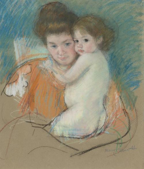 Art Prints of Mother and Dark Eyed Child by Mary Cassatt