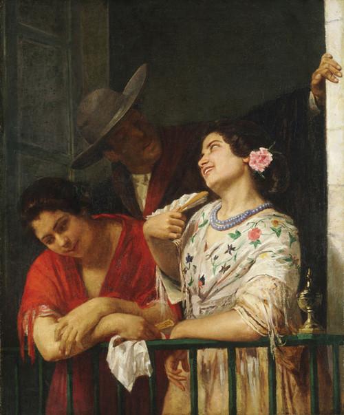 Art Prints of On the Balcony by Mary Cassatt
