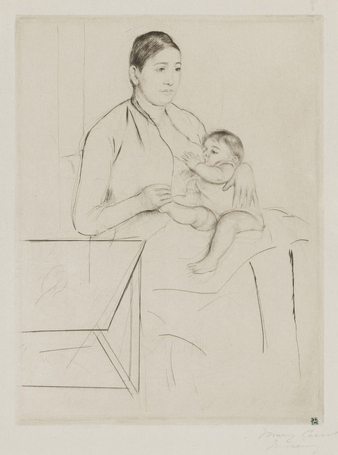Art Prints of Nursing by Mary Cassatt