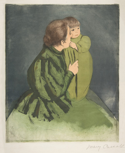 Art Prints of Peasant Mother and Child by Mary Cassatt