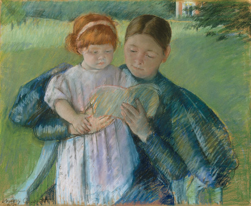 Art Prints of Nurse Reading to a Little Girl by Mary Cassatt