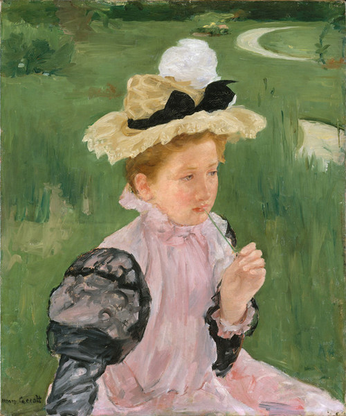 Art Prints of Portrait of a Young Girl by Mary Cassatt
