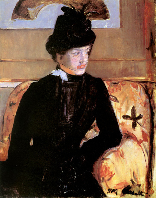 Art Prints of Portrait of a Young Woman in Black by Mary Cassatt