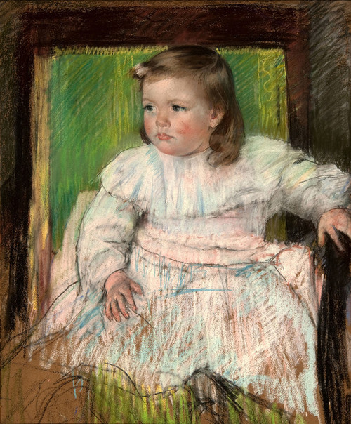 Art Prints of Pink Sash, 1898 by Mary Cassatt