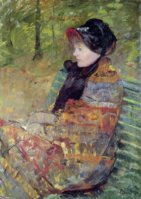 Art Prints of Portrait of Mlle C. Lydia Cassatt by Mary Cassatt
