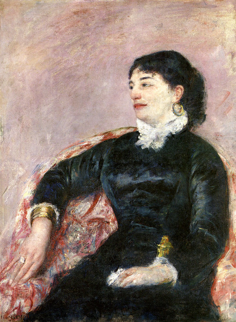 Art Prints of Portrait of an Italian Lady by Mary Cassatt