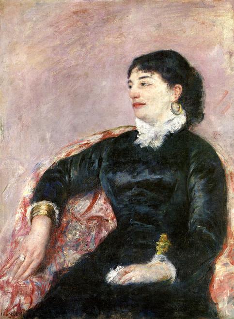Art Prints of Portrait of an Italian Lady by Mary Cassatt