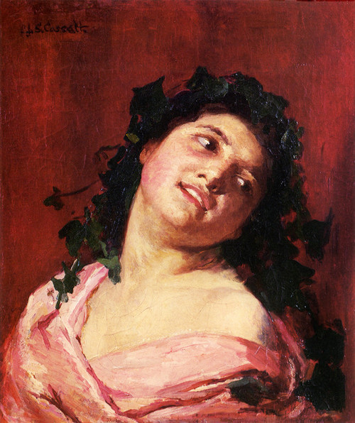 Art Prints of Roman Girl Smiling by Mary Cassatt