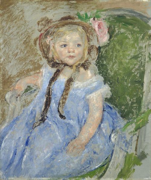 Art Prints of Sara in a Dark Bonnet by Mary Cassatt