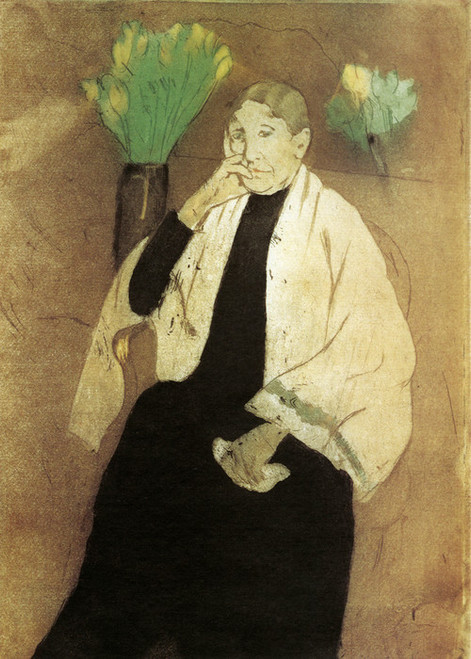 Art Prints of Portrait of the Artist's Mother by Mary Cassatt