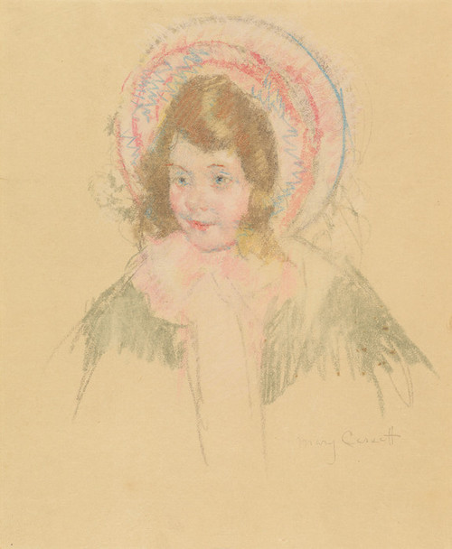 Art Prints of Sara Wearing Bonnet and Coat by Mary Cassatt