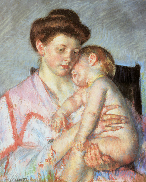 Art Prints of Sleepy Baby by Mary Cassatt